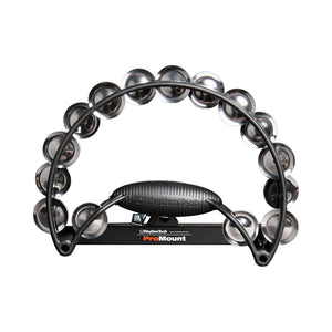 Rhythm Tech RTRP011 Pro Tambourine Double Row Brass Jingles Black