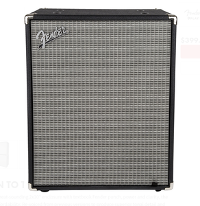 Fender Rumble 210 Bass Cabinet Black And Silver
