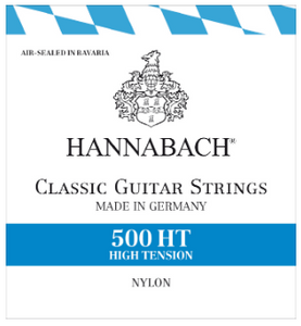 HANNABACH 500 HT CLASSICAL GUITAR STRINGS HIGH TENSION - GERMANY