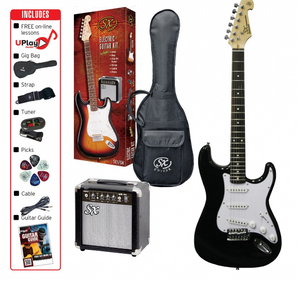 SX 3/4 Size Electric Guitar Kit - Black