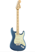 Load image into Gallery viewer, Fender American Performer Stratocaster SSS in Satin Lake Placid Blue.