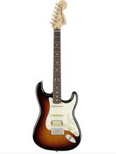 Load image into Gallery viewer, Fender American Performer Stratocaster HSS in 3-Color Sunburst.