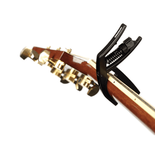 Load image into Gallery viewer, D'addario PW-CP-15 Artist Drop Tune Capo Adjustable Tension (Black)