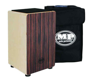 Mano Percussion Cajon Drum MP985E Wooden Rhythm Box with Black Padded Gig Bag