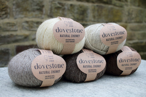Dovestone Natural Chunky yarn from baa ram ewe