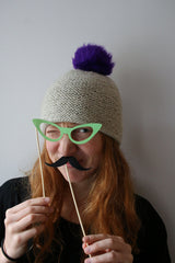 The learn to knit hat kit is a great gift for Mother's Day