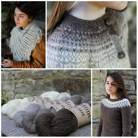 Dovestone Natural Aran collage