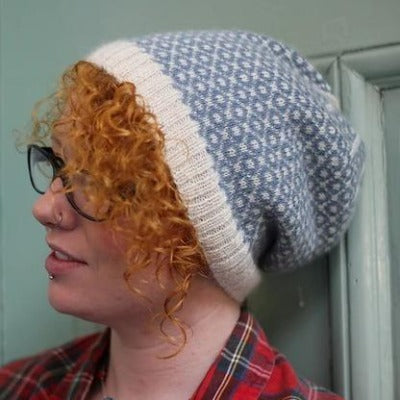 Bedale hat in blue and white
