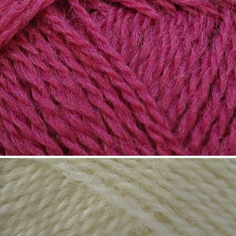 Sashiko Rhubarb and White Rose