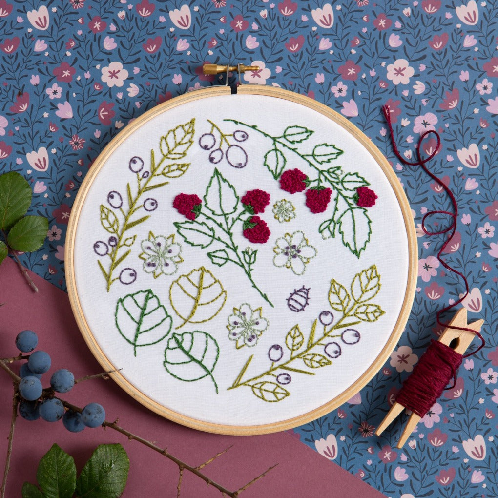 Blackthorn Bramble embroidery kit