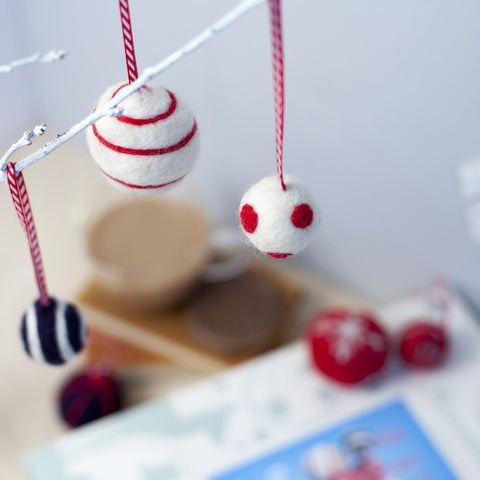 Christmas Baubles Needle Felting Kit lifestyle image