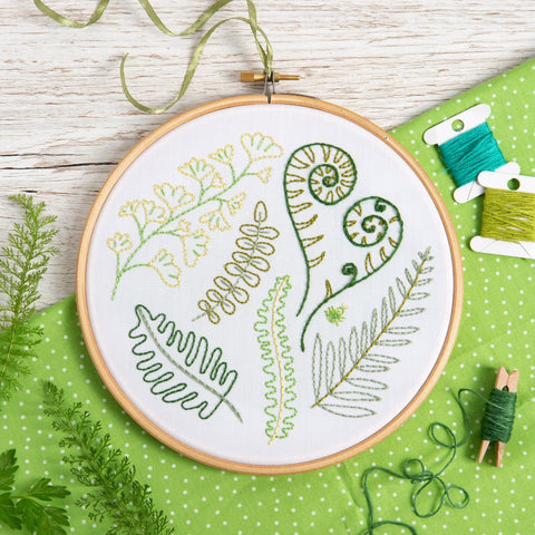 Forest Ferns Embroidery Kit lifestyle shot