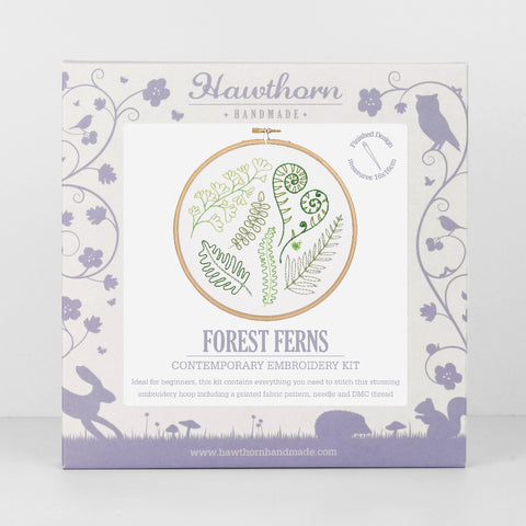 Forest Fern Embroidery Kit