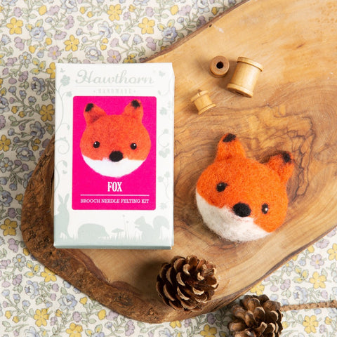 Fox Brooch Needle Felting Kit
