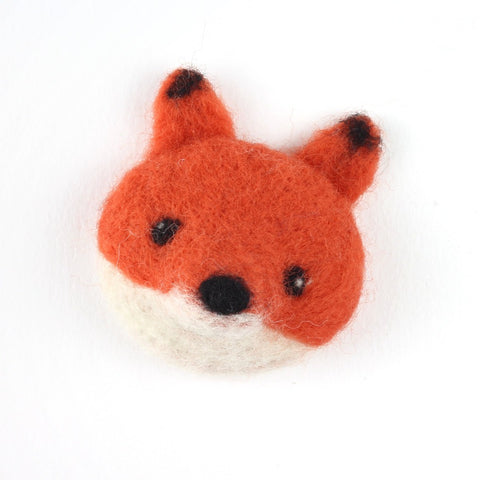 Fox Brooch Needle Felting Kit Close Up