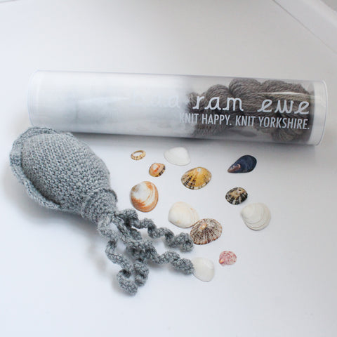 Carrie the crochet cuttlefish kit