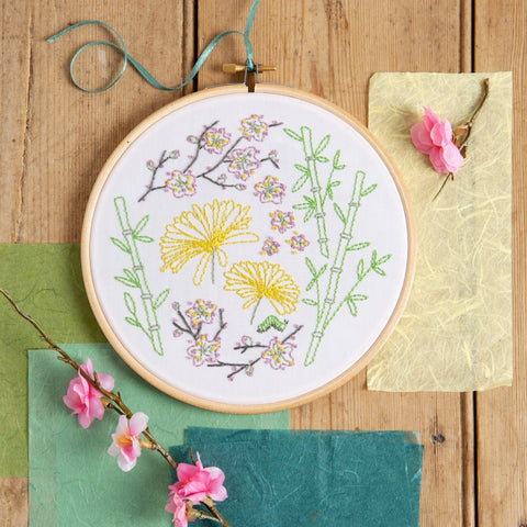 Japanese Garden embroidery Kit
