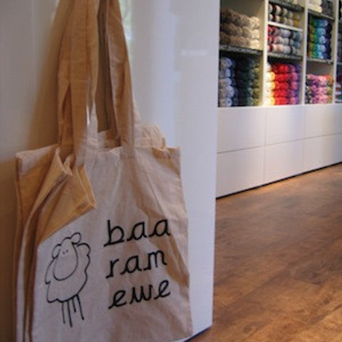 baa ram ewe cotton bag