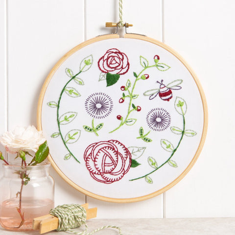 Rose Garden embroidery kit