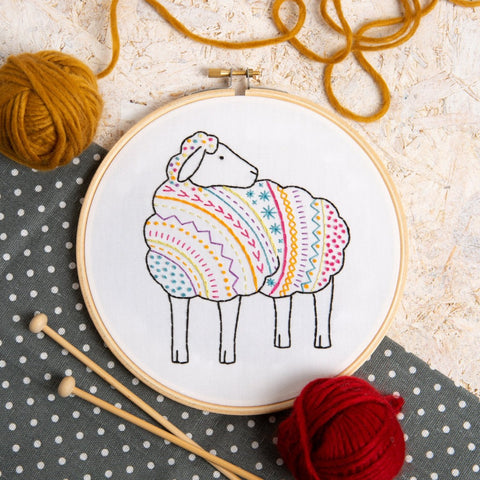 Sheep Embroidery Kit lifestyle image