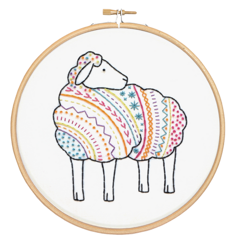 Sheep Embroidery Kit Close up
