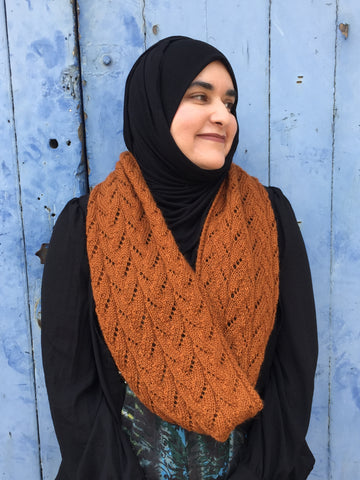 Smithies Cowl shown in shade Parkin