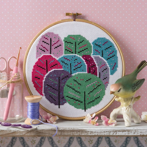 Spring Trees cross stitch kit