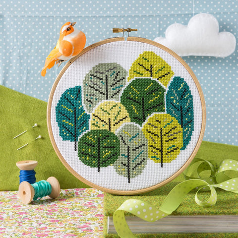 Summer Trees embroidery kit
