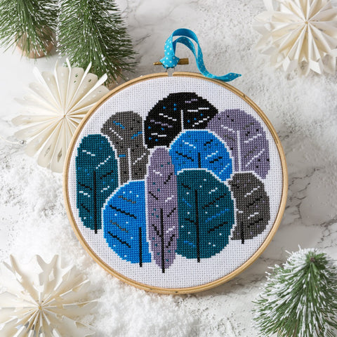 Winter Trees Cross Stitch lifestyle image