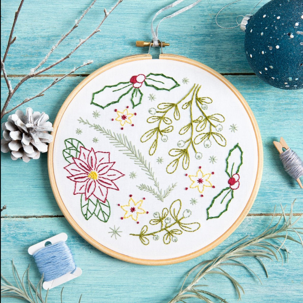 Winter Walk Embroidery Kit