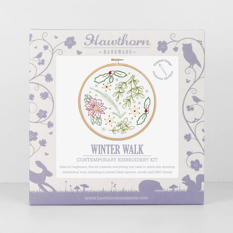 Winter Walk embroiery kit