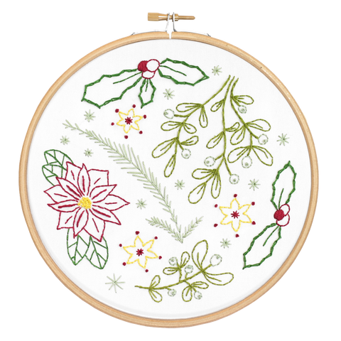 Winter Walk Embroidery Kit cut out