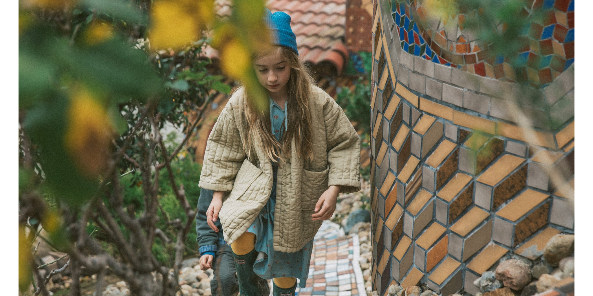 Sterling Quilted Coat in Flax Sustainable Kidswear