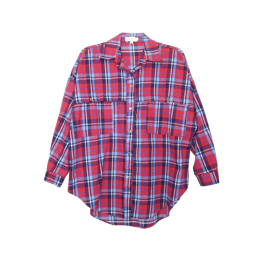 Alanis Plaid Button Down Shirt