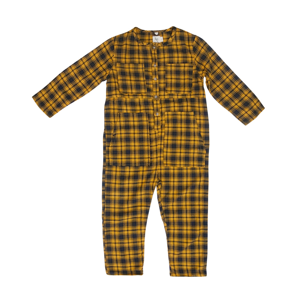 Atticus Plaid Flannel Jumpsuit