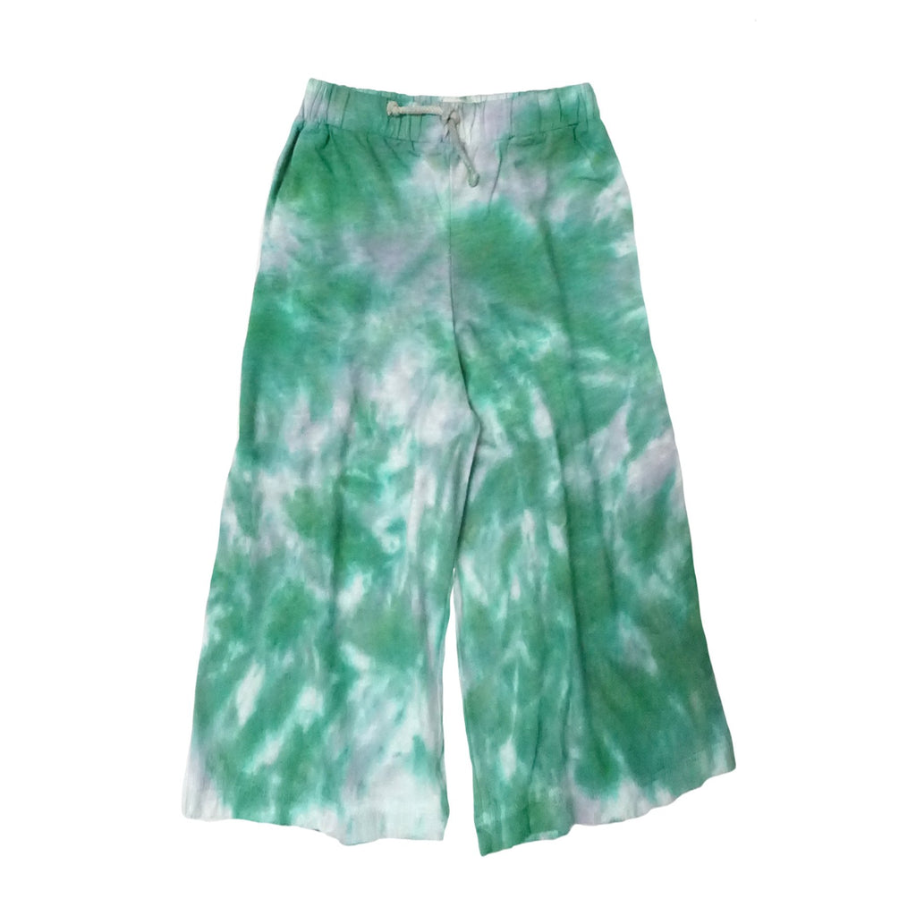 Kid's Tie Dye Wide Leg Pants Fade Blue
