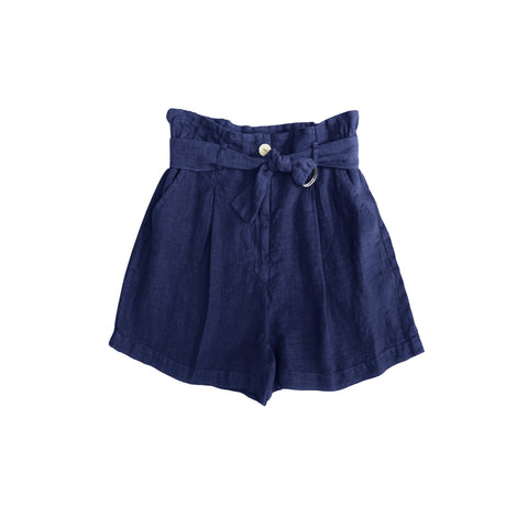 Belen D-Ring Pleated Short