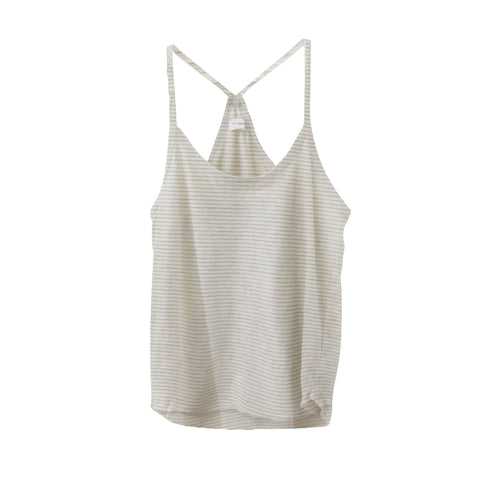 Clayton Cropped Tank - Striped Jersey