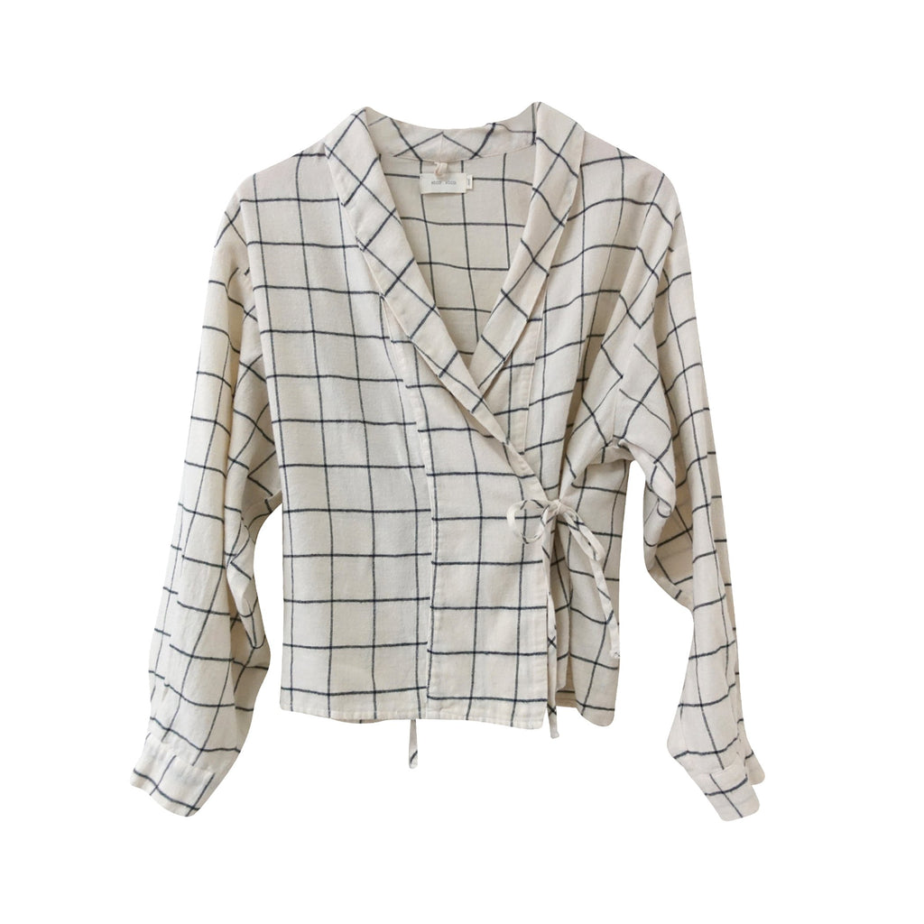 Dharma Check Wrap Blouse