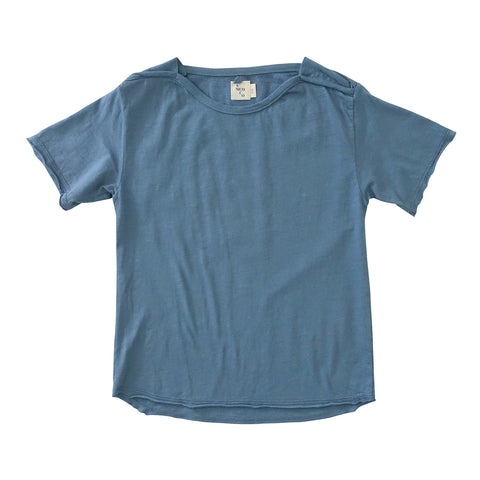Kid's Short Sleeve Tee Shirt Fade Blue
