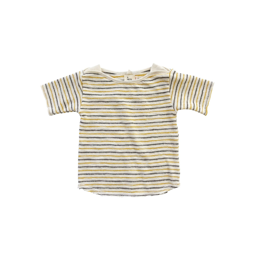 Infant Striped Tee white