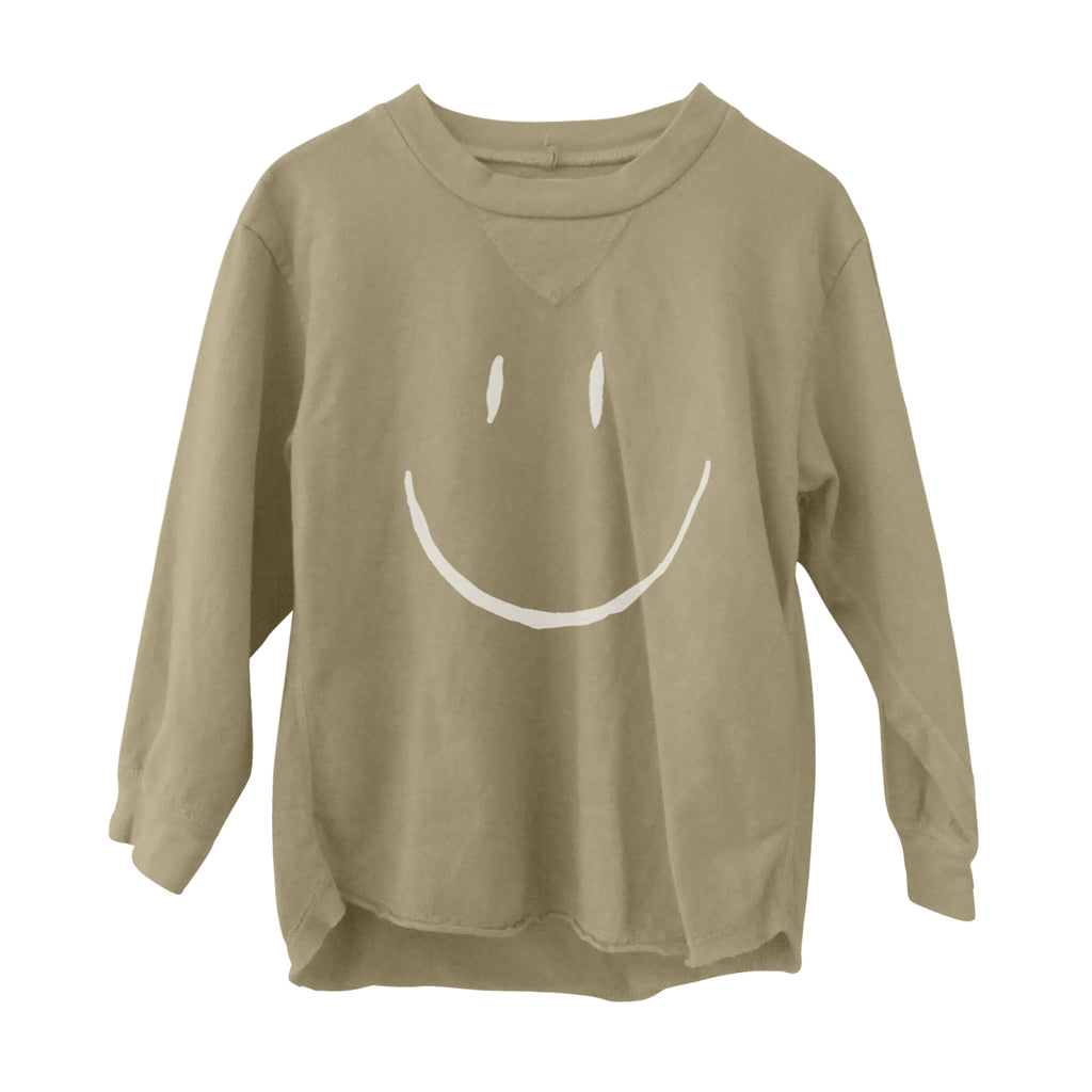 Happy Long Sleeve Tee Flax