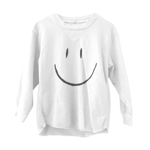 Happy Long Sleeve Tee White