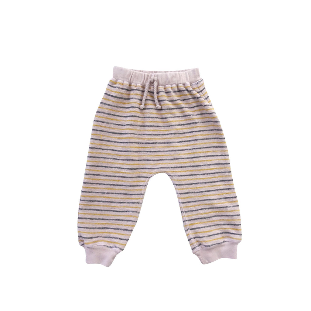 Infant Jogger Pant Stripe Wisteria Pink