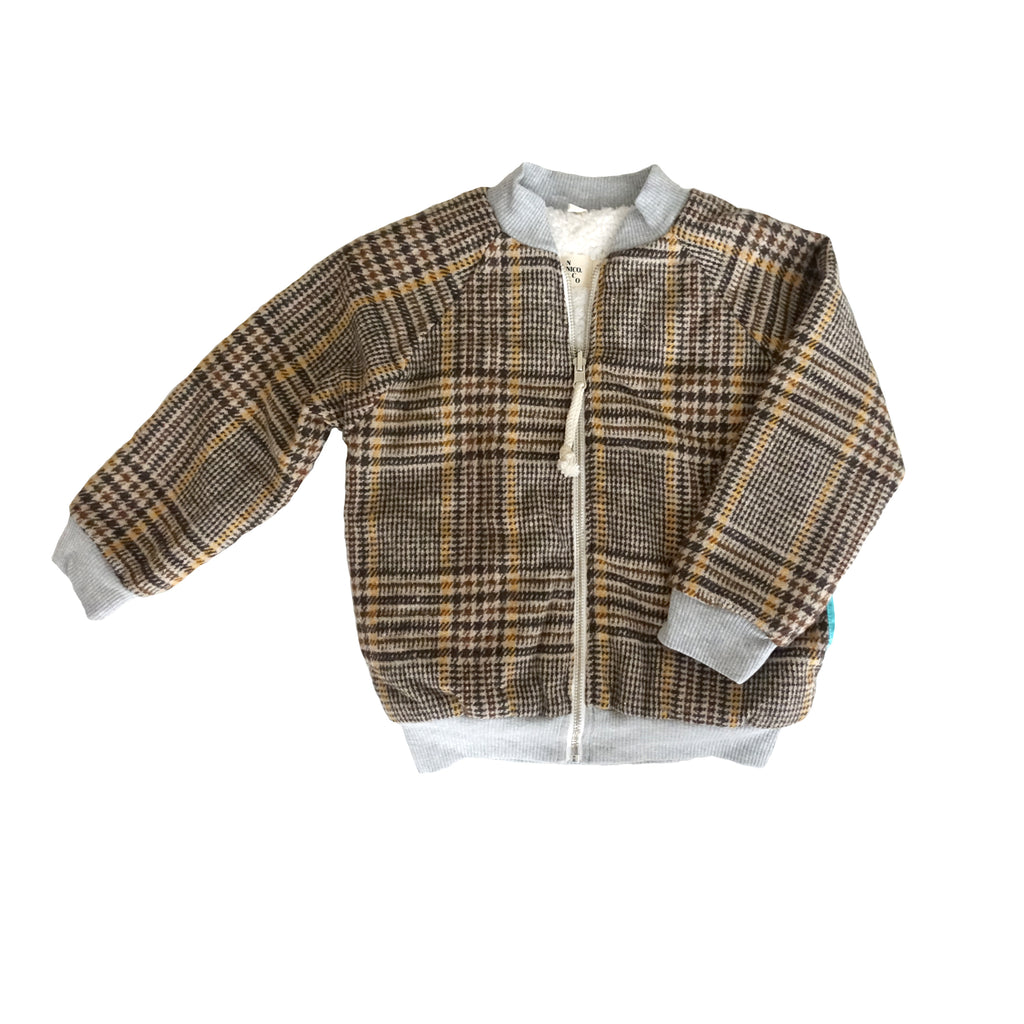 Lhasa Plaid Reversible Bomber