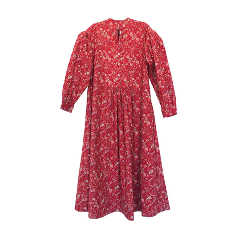 Lucie Puff Sleeve Dress Red