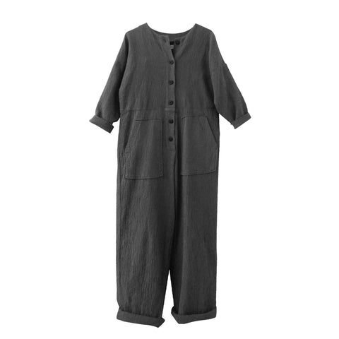 Manon Quilted Jumpsuit Carbon
