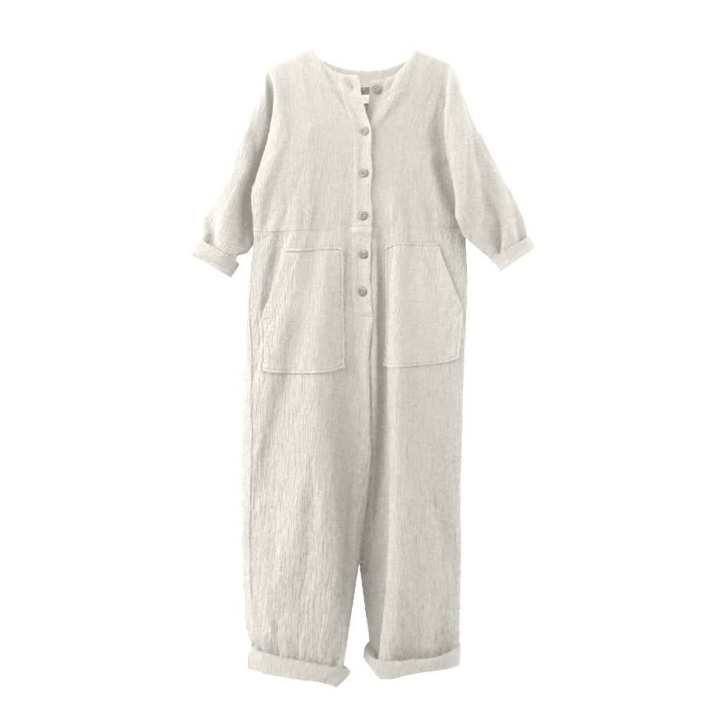 Manon Quilted Jumpsuit Oatmeal