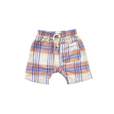 Infant Harem Shorts Cream Plaid