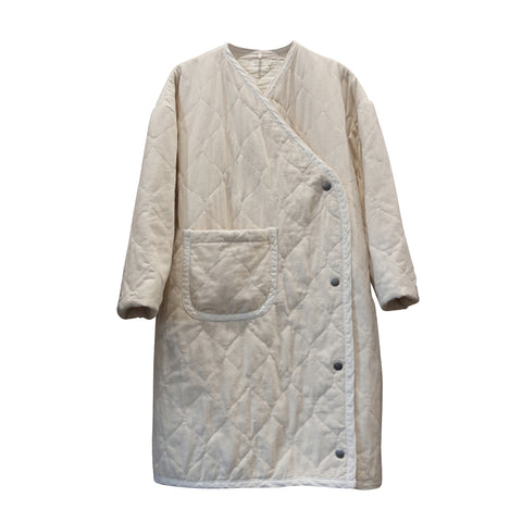 Nima Quilted Coat Snow